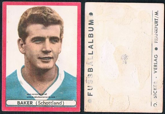 1964 Joe Baker Scotland German Sicker